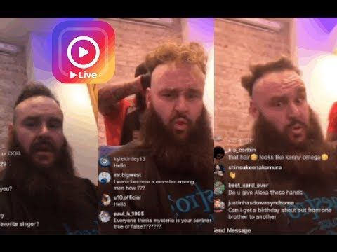 WWE's Braun Strowman Barber Q&A. (LOVES Alexa Bliss? FIGHT in UFC? 9000 Calories a day?)