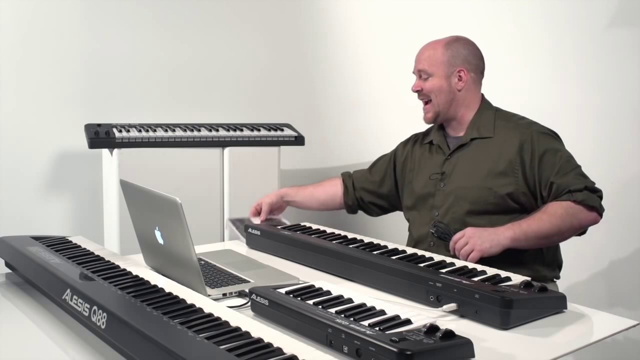 getting started with alesis q series midi usb keyboard controllers youtube. Black Bedroom Furniture Sets. Home Design Ideas