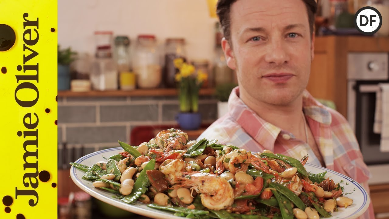 Healthy pan cooked prawns jamie oliver youtube forumfinder Choice Image