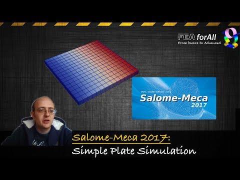 [Salome-Meca 2017 Tutorial] Simple Plate Linear Static Analysis