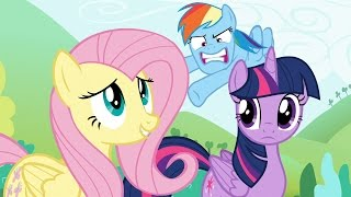 Fluttershy & Rainbow Dash - On the bright side, Boulder seemed really sweet. He