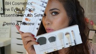 full face makeup using bh cosmetics essential brush set s demo   review