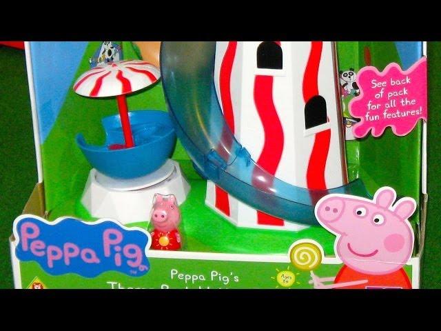 Peppa Pig Parque de Atracciones del Tobogán Espiral Videos De Viajes