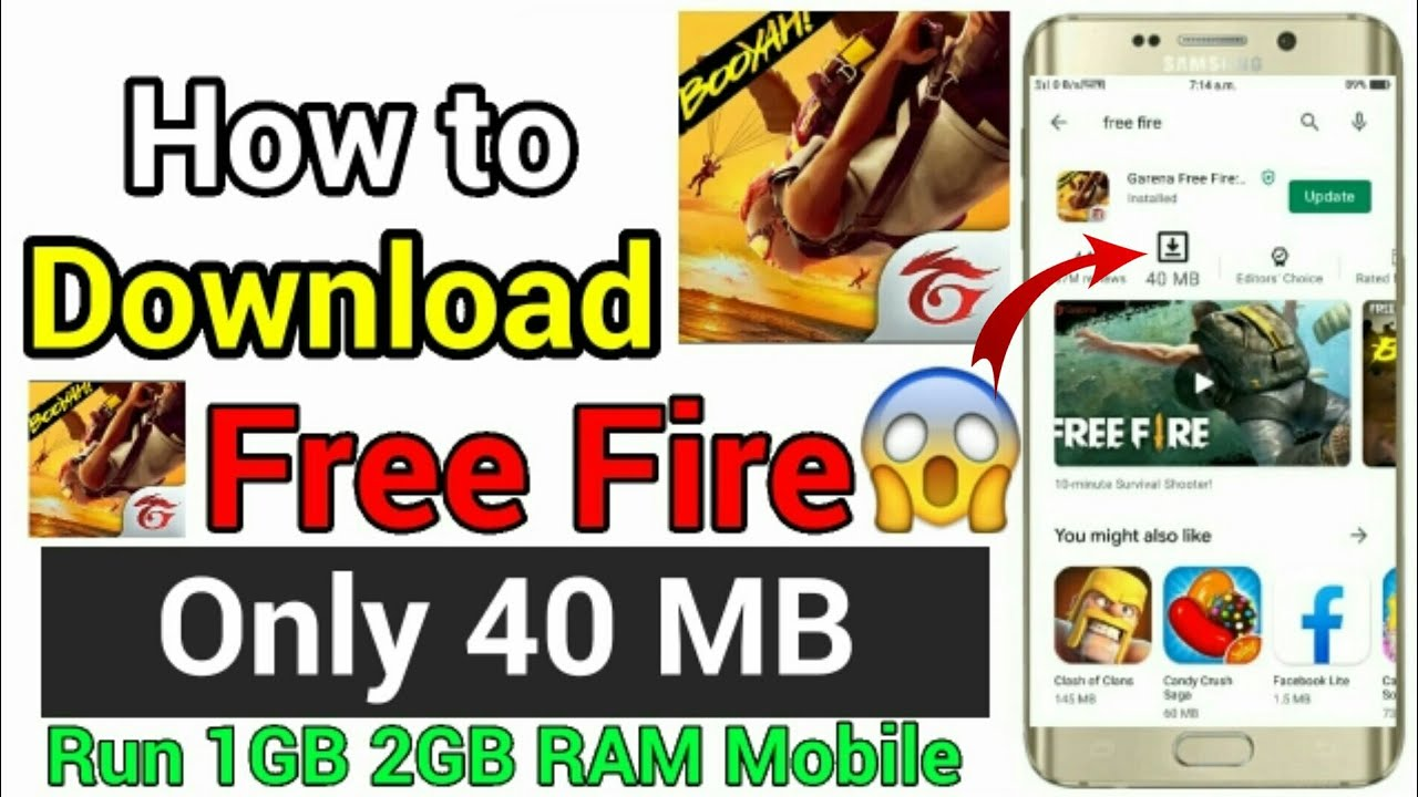 How To Download Free Fire Only 40 Mb Free Fire Kam Mb Free Fire Kam Mb Mein Kaise Download Karen Youtube
