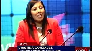 23 04 19  CRISTINA GONZÁLEZ Candidata a Intendente Lista 2   FPV