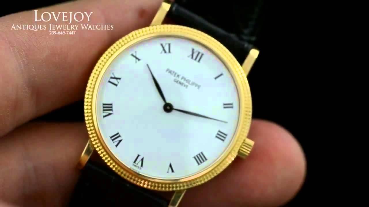 Patek Phillipe Calatrava 3992 Automatic 18k Mens Watch