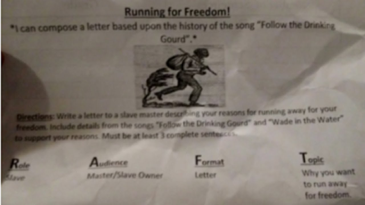 Bennett Venture Academy Asks Students To Write Slave Masters  In Runaway Slave Project