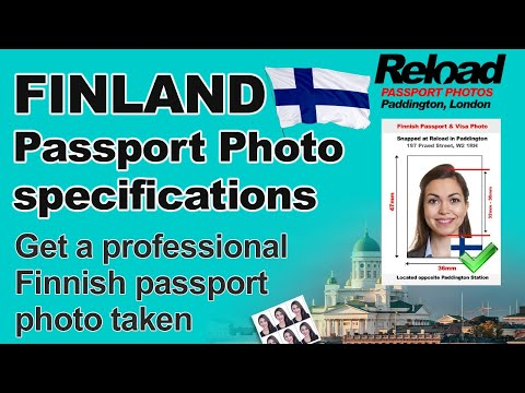 Get your Finnish Passport Photo or Visa Photo snapped in London
