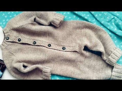 Детский комбинезон спицами базовая модель 1 часть / Комбинезон спицами для новорожденного
