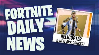 Fortnite Daily News *REKORDE* MALE ARK SKIN & HELICOPTER (24 March 2019)