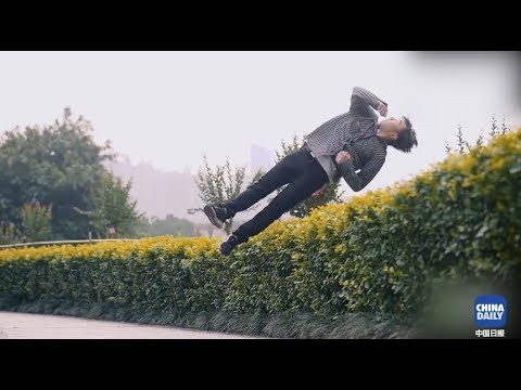 Enjoy this visual feast: Chinese parkour masters competing against each other