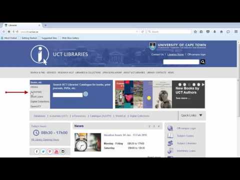 How to use UCT Libraries