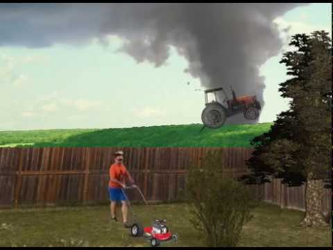 Guy Mowing Lawn During Tornado In Alberta Youtube