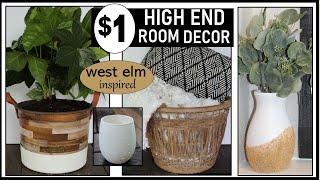 HIGH END DOLLAR TREE DIY | ROOM DECOR inspired by WEST ELM