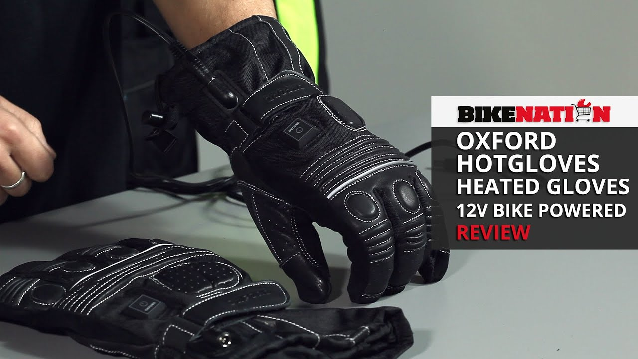 Motorcycle gloves heated battery - Oxford Hotgloves Heated Gloves 12v Bike Powered Review