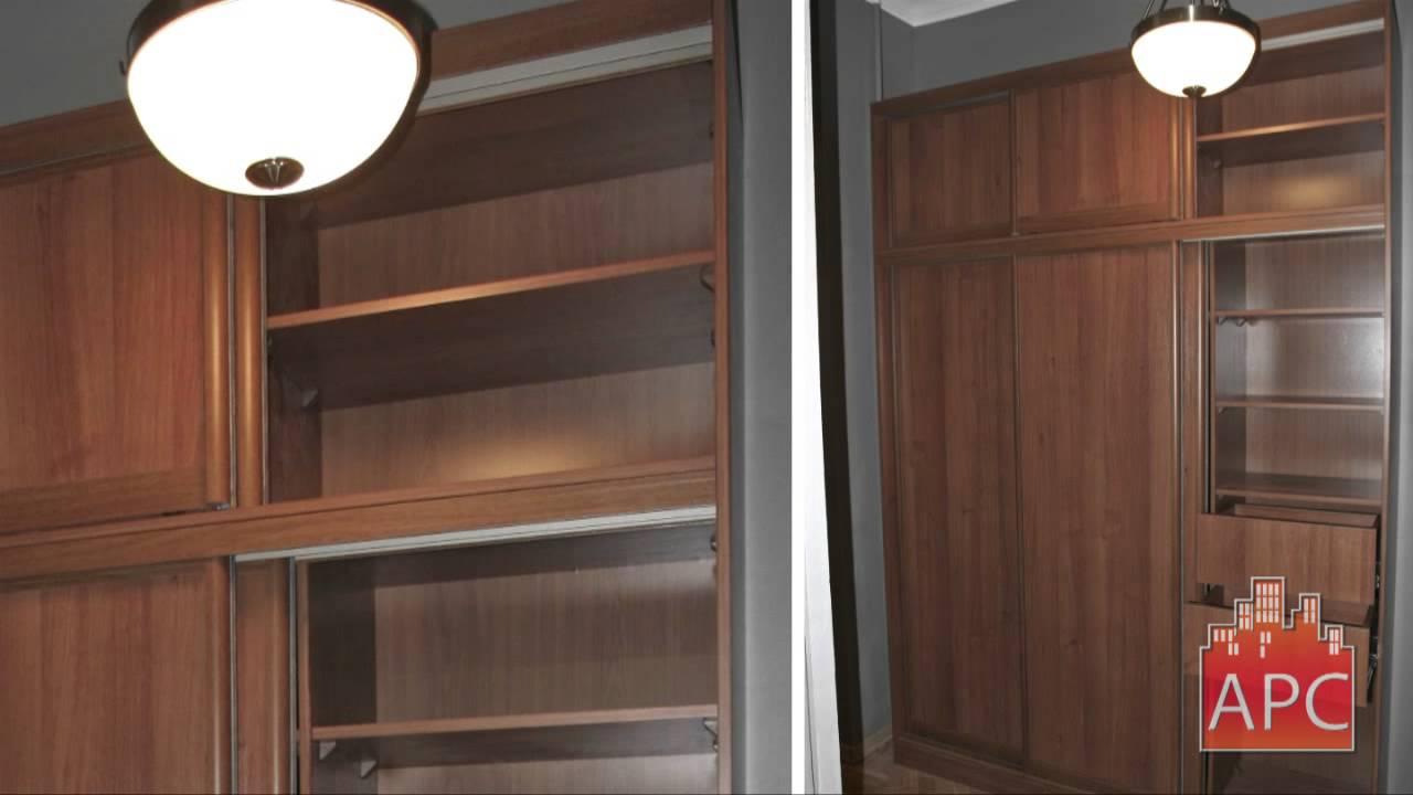 Шкафы купе с антресолью