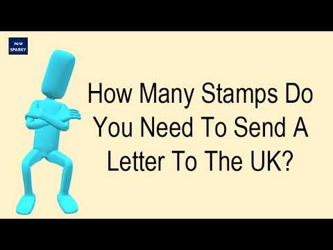 how many stamps do you need to send a letter to the uk