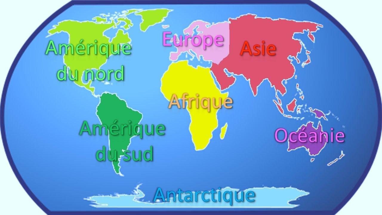 Apprendre Les Continents Youtube
