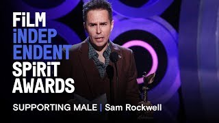 SAM ROCKWELL wins Best Supporting Male at the 2018 Film Independent Spirit Awards