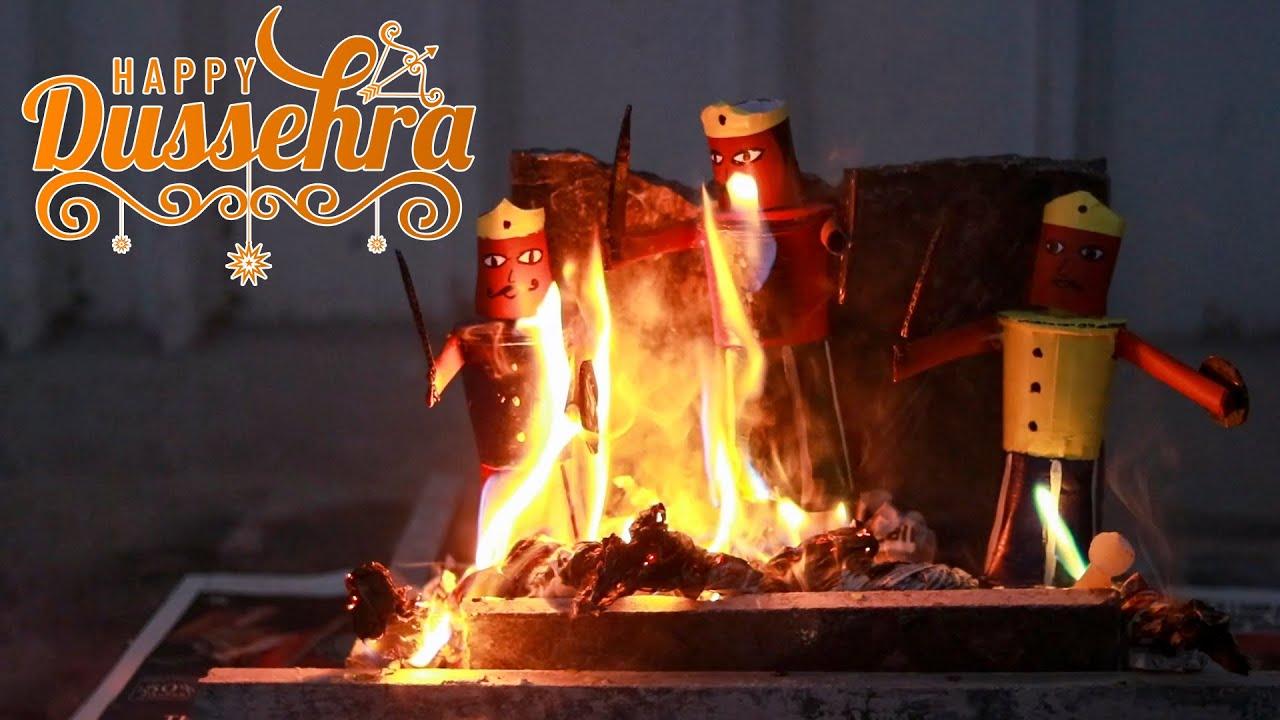 Ravan Dahan at Home - मिलके जलाऐं रावण | Let's Burn our Homemade Ravan in evening | Happy Dussehra