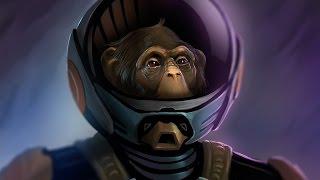 Рисунок персонажа обезьяны в Фотошоп (Speed-Paint)