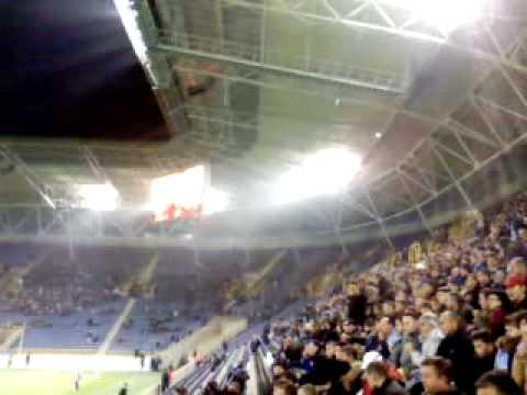 """""""Manowar - Gods Of War"""" on football stadium"""