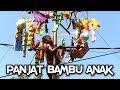 Lomba Panjat Pinang Anak dari Bambu Dalam Rangka Merayakan Indonesia Merdeka