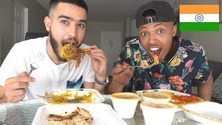 American Try Indian Food For The First Time (MUKBANG)