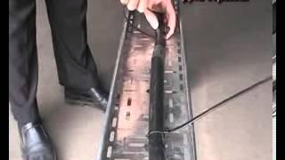 Монтаж силового кабеля на хомуты