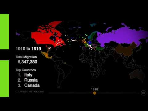 Hypnotic Animation Years Of US Immigration In Minute YouTube - Animated map of immigrants to us