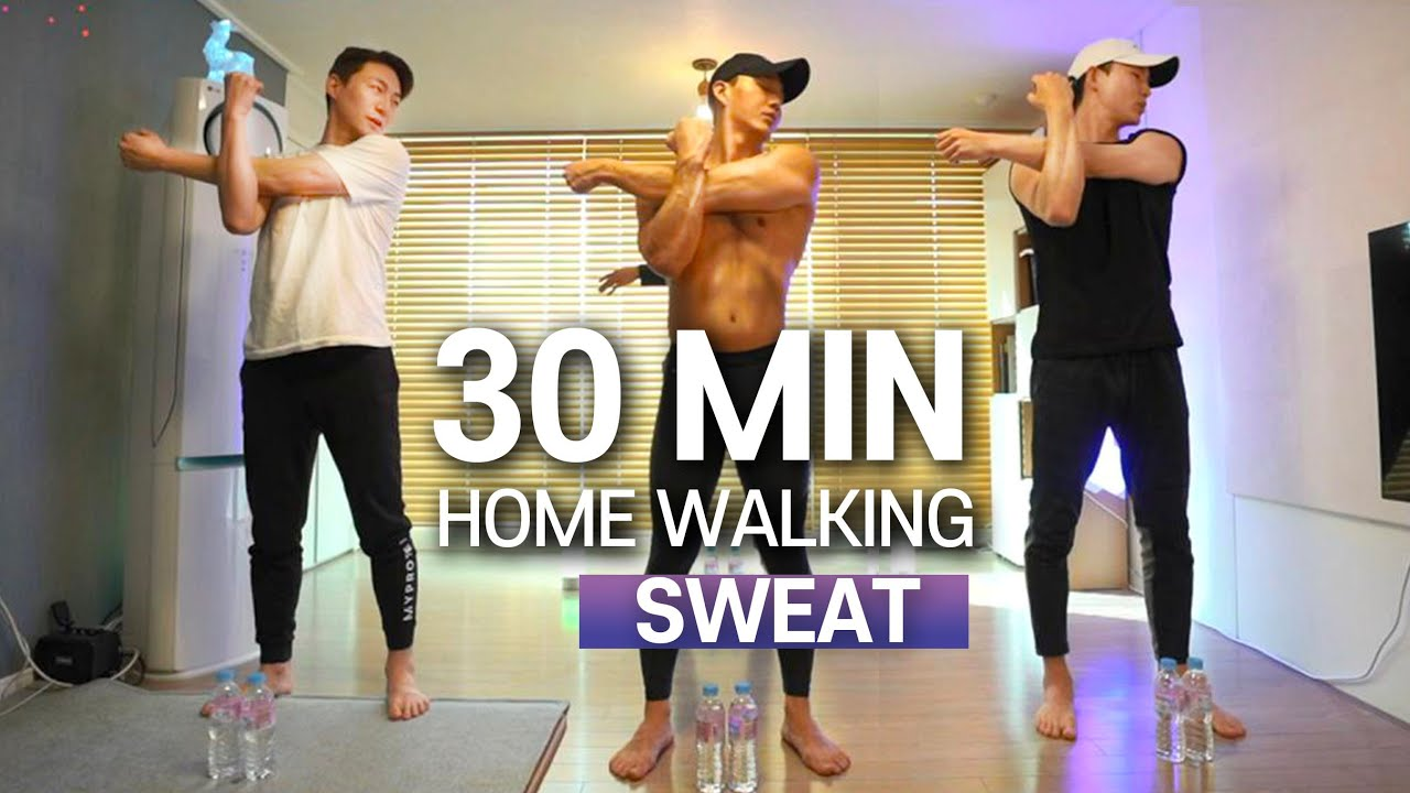 e.5 30분 걷기 홈트 (땀범벅💦!!) | 30min HOME WALKING (SWEAT💦!!) for ALL AGES