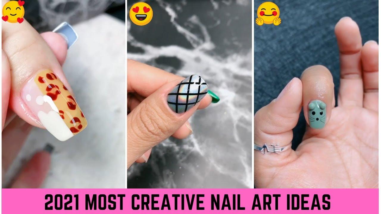 Simple Nails Art   Nail Art Compilation   Nail Art Design #Shorts