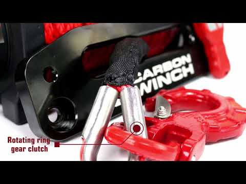 Carbon Winch CW-12k 12000lb Electric 4x4 Winch with Synthetic Rope.