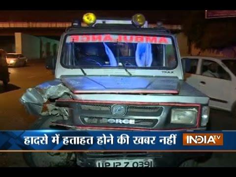 Speeding ambulance hits 4 cars near ITO in Delhi