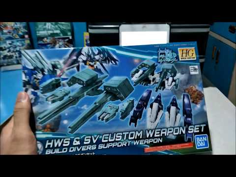 Let's Talk About Unboxing And Review HGBC 1/144 HWS & SV Custom Weapon Set