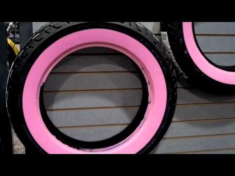 Dunlop Limited Edition Pink Wall Tires Harley Davidson