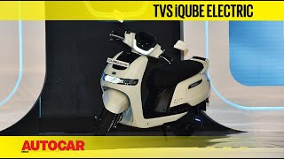 TVS iQube Electric e-Scooter Walkaround | First Look Preview | Autocar India