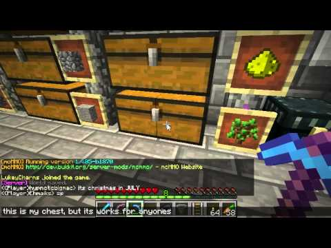 how to create a locked chest in minecraft