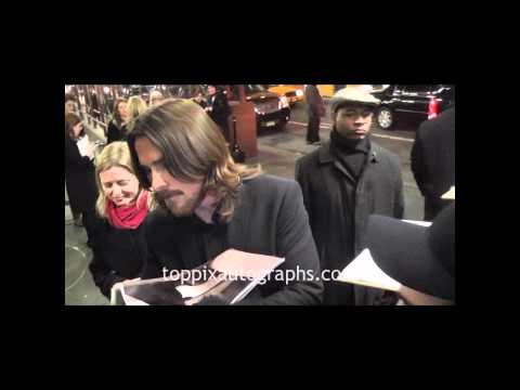 Christian Bale - Signing Autographs at the National Board of Review Awards in NYC