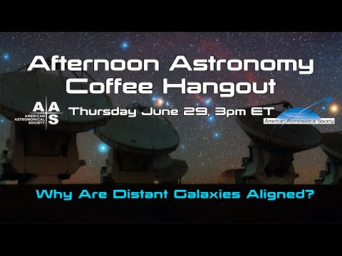 Why Are Distant Galaxies Aligned?
