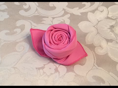 how to fold a cloth napkin into a rose in 72 seconds youtube. Black Bedroom Furniture Sets. Home Design Ideas