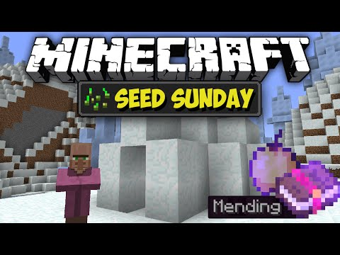 Minecraft Seed Sunday MC1.9.2 - Ep171 - Ice Spikes, Mending Book, Notch Apple + MORE ! ! !