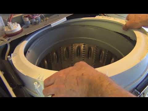GE Hydrowave Washer Tub Seal and Dampening Strap Replacement