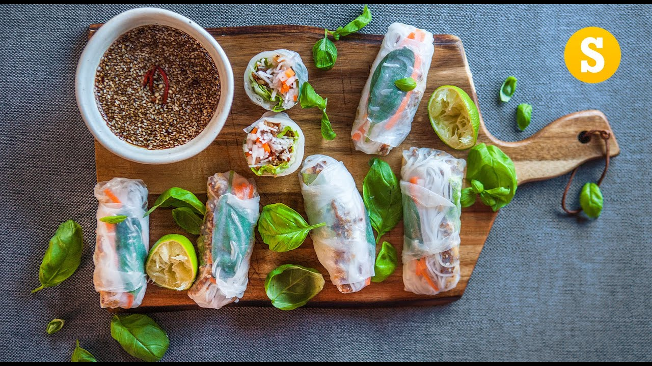 Fresh vietnamese spring rolls recipe youtube fresh vietnamese spring rolls recipe forumfinder Image collections