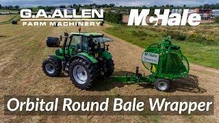 G A Allen McHale Demo Day 2016   McHale Orbital Round Bale Wrapper