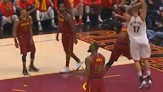 LeBron James Doesn't Play Defense But Gets Mad at Cavaliers  Teammate For Not Playing Defense! thumbnail