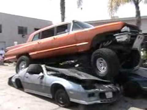 4x4 Cadillac at Car Crush-Clic Monster Car 2 - YouTube