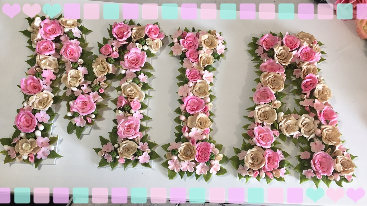 Letras decoradas con porcelana fria youtube - Pared decorada con fotos ...