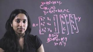 كيفية استخدام مصفوفة طريقة للعثور على وظيفة من الدرجة الثانية : الرياضيات الأساسية النصائح