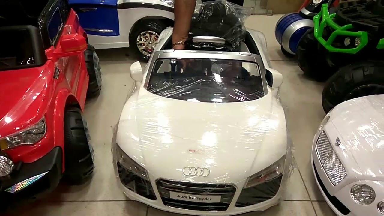 PA Toys New Audi R Spyder QX Ride On Car YouTube - Audi r8 6v car